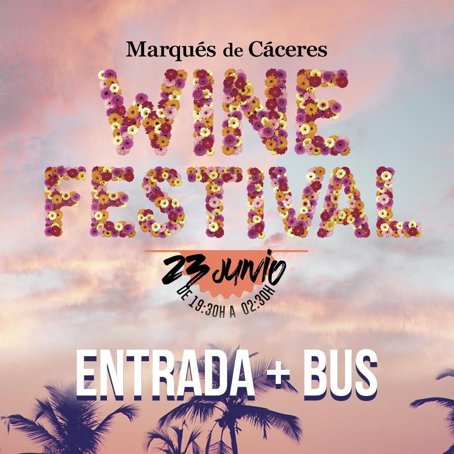 Entrada Wine Festival MC con desplazamientos