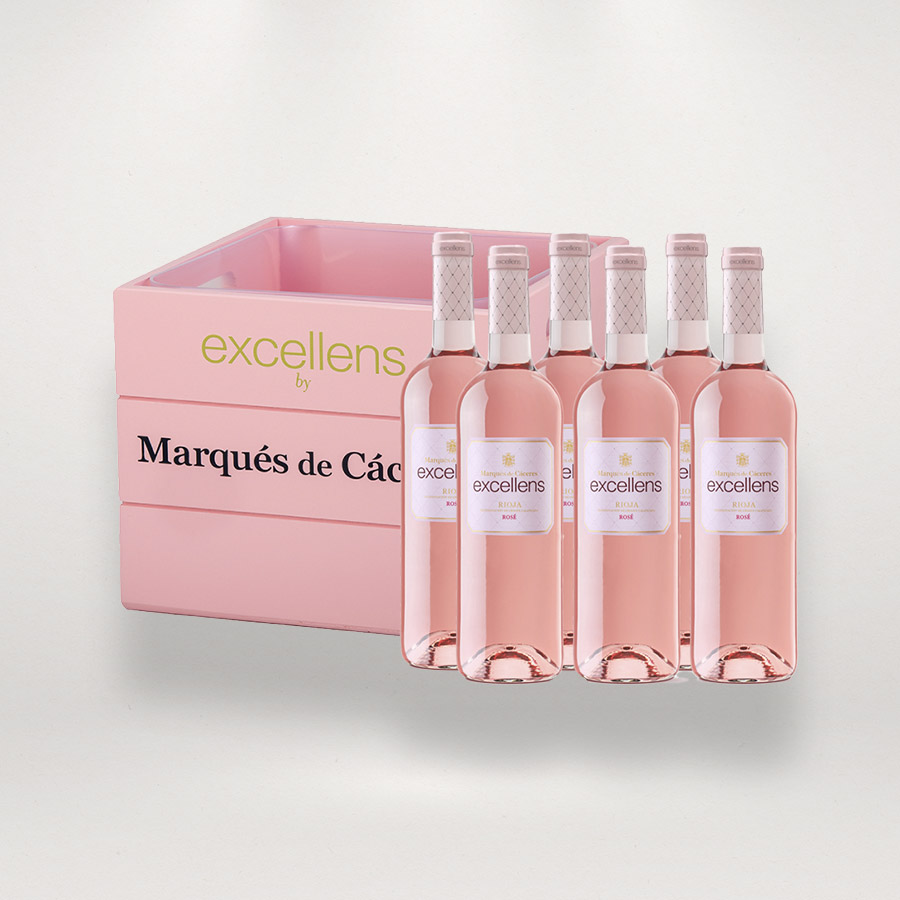 6-botellas-Excellens-y-caja-enfriadora-rosa