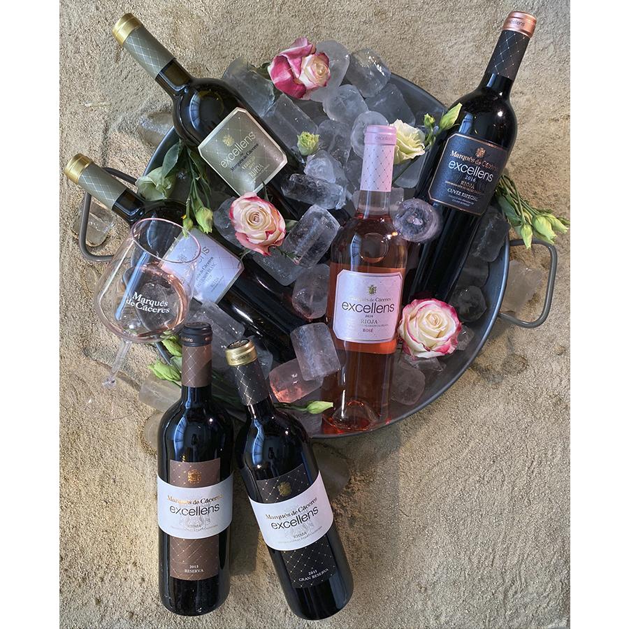 6 botellas de vino de la gama Excellens